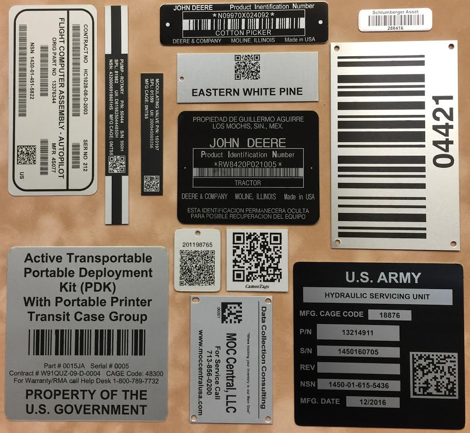 bar code labels and asset tags