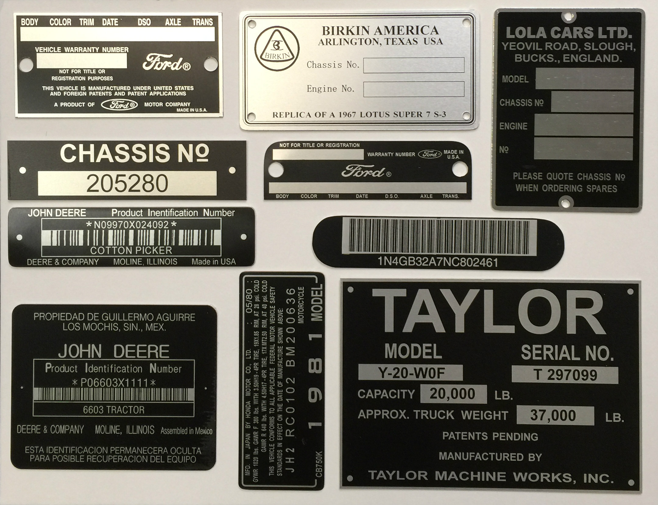 Vin Tags Hull Plates Replacement Plate Manufacturer Aluma Ensil Electronic Circuit Board Repair Manufacturing