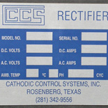 Metal Equipment Label